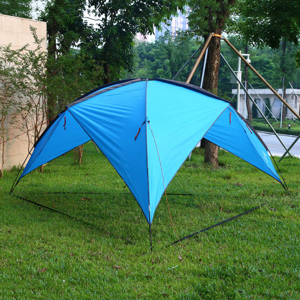Wholesale- Shengyuan 210T Sun Shelter 6-8 person big tent Beach Canopy Tent Instant Sun Shade Patio Cabana for Camping Picnic Family Party