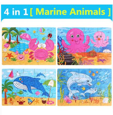 Color:4 in 1 marine animal