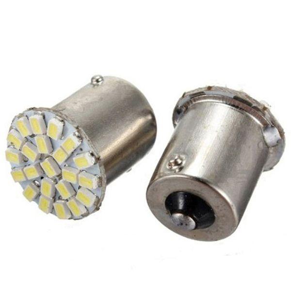 10pcs / lot, lámpara led de coche 1156 BA15S 22 LED 22 smd 22SMD Luz de LED 3020/1206 SMD luz de marcha atrás de señal