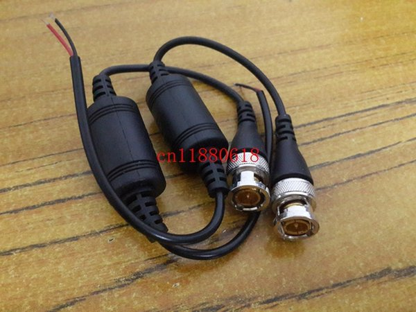 100 pz / lotto (50 paia) spedizione gratuita un canale passivo ricetrasmettitore CCTV video Balun UTP-602B video su cavo CAT5 BNC maschio