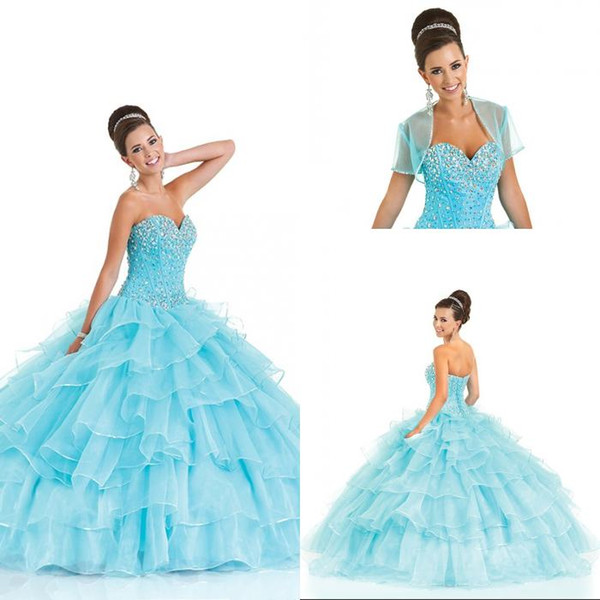 Beading Sweetheart Floor Length Quinceanera Dresses 2016 Ball Gowns Girls Sweet 16 Masquerade Prom Dress (A Petticoat For Free)