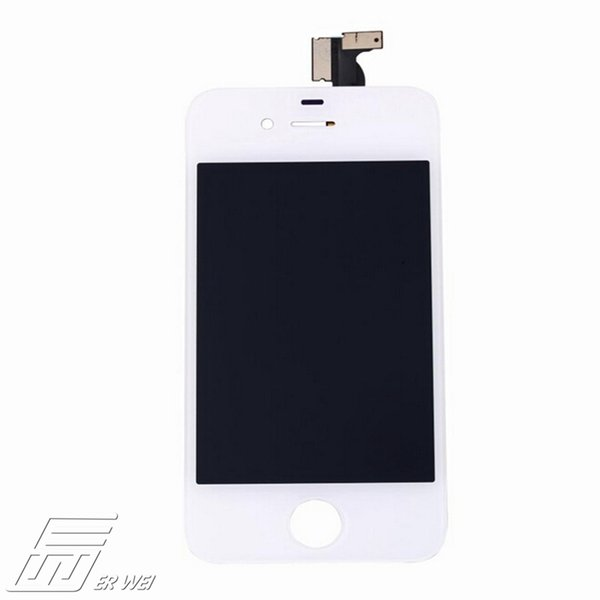 Wholesale-wholesale price 100%For iPhone4S Replacement LCD Touch Screen Digitizer Assembly White + Frame Assembly Free shipping