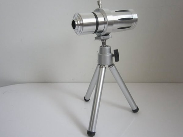 Free shipping For iPhone 12X Optical Zoom Telescope Camera Lens with Tripod with Hard Back Cover Case