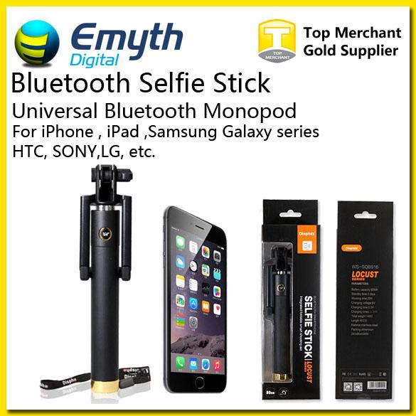Bluetooth Integrated Monopod Wireless Selfie Stick Extendable Handheld Wireless Built-in Shutter and Clip for IOS iPhone Samsung Smart phone