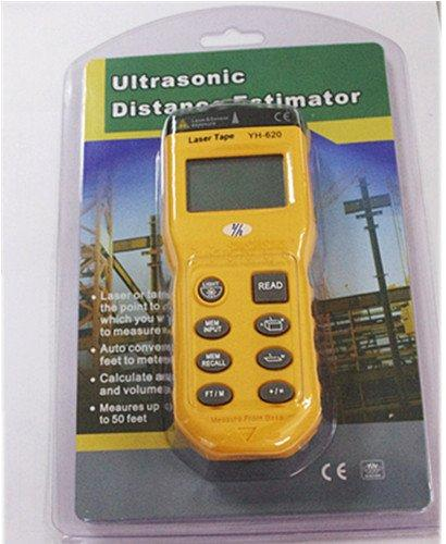 Wholesale-YH620 Ultrasonic range measurement finder with laser point