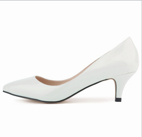 6CM Low Heels White Wedding Shoes For Bridal Accessories Shoes Slip On Cheap Modest New Arrive Hot Sale Custom Made Plus Size Shoes