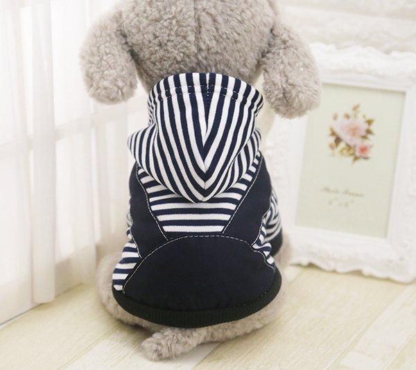 Xmas Pet Dog Jumpsuits Clothes Puppy Teddy Cotton Stripe Pattern Christmas Winter Warm Clothes For Small Medium Dogs