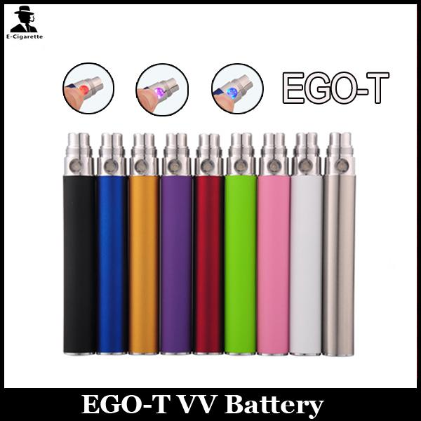 EGO T Battery Electronic Cigarette Button Control Ego-T 510 Thread For CE4 CE5 CE6 clearomizer 650mah 900mah 1100mah 1300mah Various Colors
