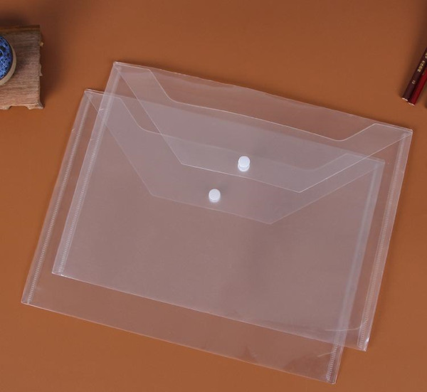 Cartelle grandi trasparenti Cartella di plastica A4 Cartella di file Cartelle di documenti Cartelle di archiviazione Archiviazione di documenti Cartoleria per ufficio 77