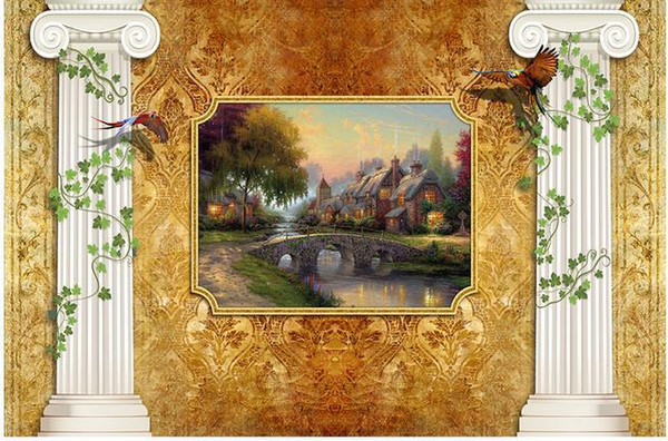 Custom photo wallpaper Large 3D sofa TV background wallpaper mural wall Roman rural countryside 3d mural wallpaper 20157194