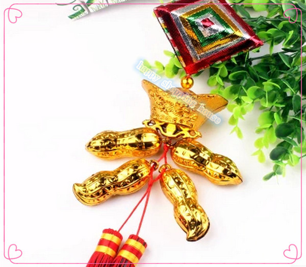 2pcs China Spring festive decorations Chinese knot China. Dragon boat festival dumplings sachets peanut size gift wholesale gold jewelry pe