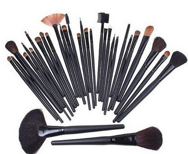 2015 HOT 32pcs Professional Makeup 32pcs Brushes make up Cosmetic 32pcs Brush Set eyeliner lipbrush Foundation Brush ETC Soft Goat hair DHL