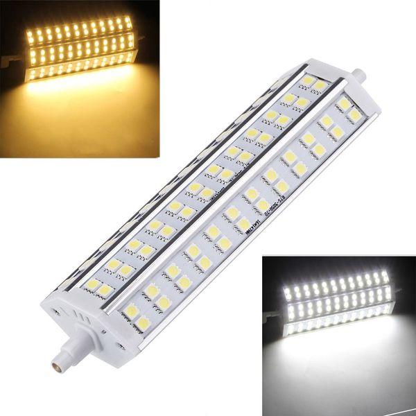 Ahorro de energía R7S 15W 72 LEDs 5050 SMD Lámpara de bombilla Blanco Blanco cálido 100-240V Reemplace el reflector halógeno Lámpara de iluminación LED
