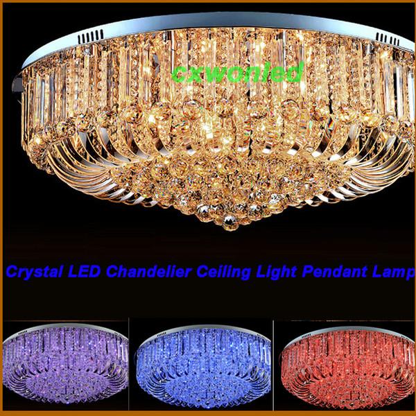 Modern Rectangular Crystal Chandelier Dining Room Length Multiple Size LED Cyrstal Pendant Light Ceiling Lamp Chandiliers