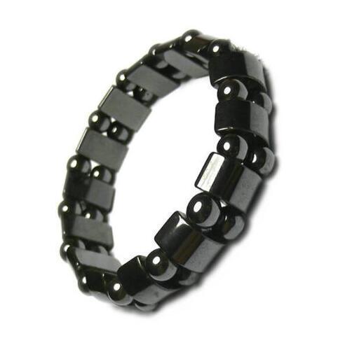 Women Black 6 8 10 Cool Magnetic Bracelet Beads Hematite Stone Therapy Health Care Magnet Hematite Beads Bracelet Men's Jewelry