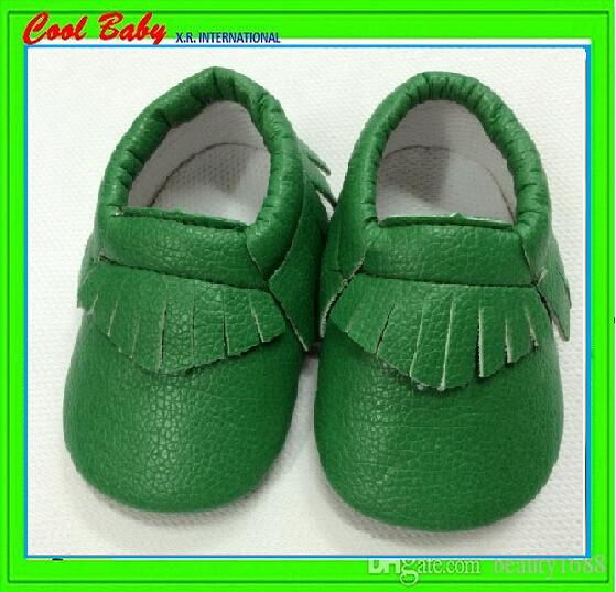 PU leather baby waklers soft shoes with Moccasins moccs prewalker shoes for 0-24monthes baby,XRWX054