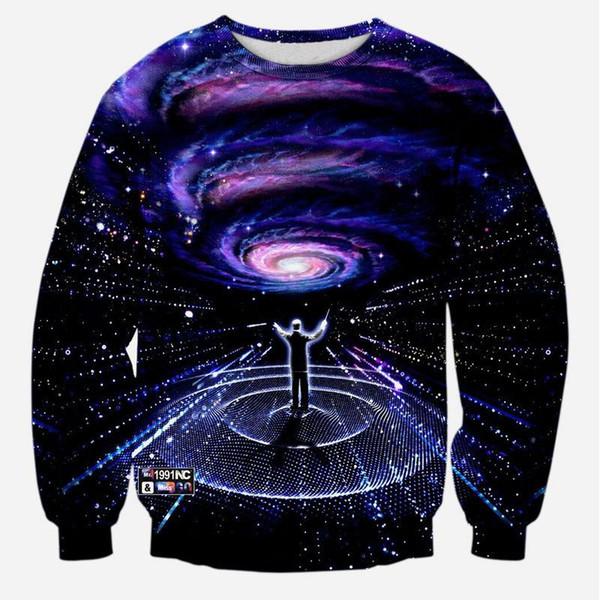 w1208 sweat-shirt espace alisister galaxie pour les hommes / femmes style harajuku la ville impression sweat-shirts à capuche 3d hiver / automne unisexe hoodie