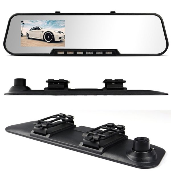 The New Car DVR Rear View Camera 820 Bats Type 4.3 Screen Rearview Mirror Vehicle Traveling Data Recorder Free Shipping