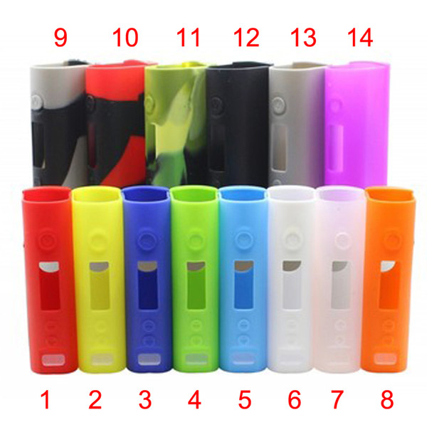 Colorful Silicone Case For Kanger Subox Mini Box Mod Protective Case Fit Kangertech E Cigarette Rubber Sleeve Protective Cover DHL FJ651