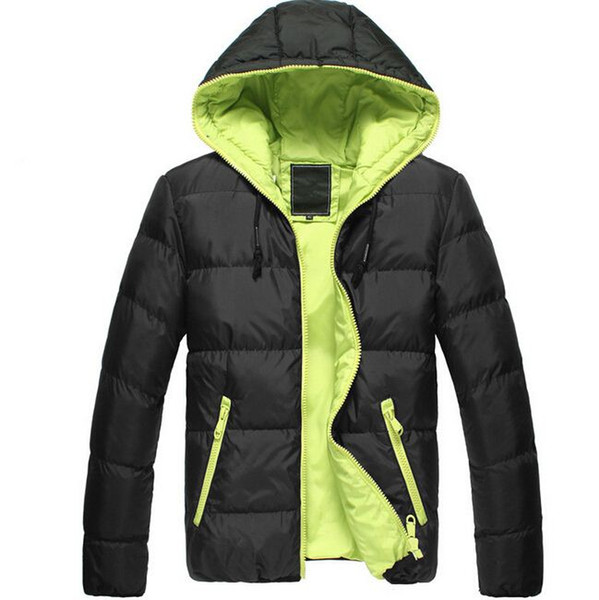 FG1509 3XL Winter Jackets Mens Parka Sport 2015 Hooded Cotton Padded Coats Casual Design Slim Fit Outdoor Waterproof Overcoat ZHY103