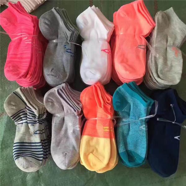 best selling U & A Pink Black Grey Boys & Girls' Adult Short Socks Men & Women Football Cheerleaders Basketball Outdoors Sports Ankle Socks Free Size