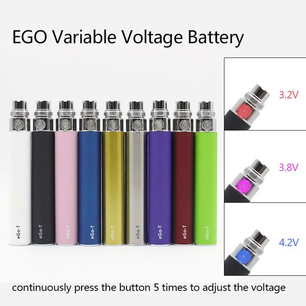 EGO-T Variable Voltage Battery Adjust Voltage by Button for CE4 CE5 MT3 Kanger Subtank Plus RDA Atomizer Ecig