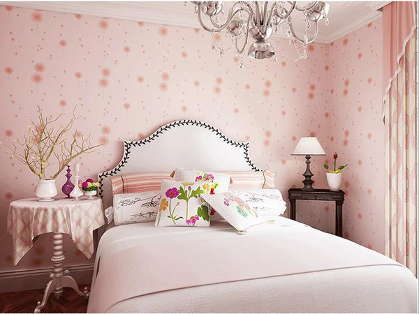 Hot Sale Mural Wallpaper 10m Wallpaper Wall paper Roll For Kids Bedroom Warm flower Wall sticker