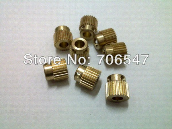 Free shipping New RepRap 3D Printer Extrusion head special gear inner hole diameter of 5mm (50pcs/lot) Whalesale $85