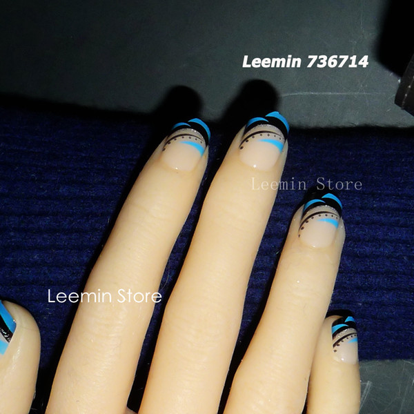 Wholesale False Nail , Blue And Black Gentle Nail For Daily Use Press On  Nails False Nails From Cangchun, $20.6