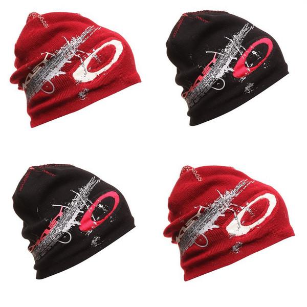 Toptan-Çok serin Snowboard Kış Akrilik astarlı yün kap örme şapka paten kasketleri hip-hop kap erkekler 2 renkler