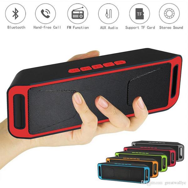 2017 Fashion SC208 Wireless Speaker Bluetooth 4.0 Stereo Subwoofer Speaker TF USB FM Radio Built-in Microphone Dual Low Speaker