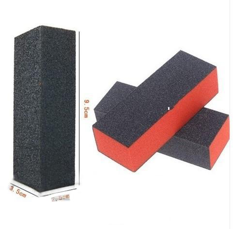 Wholesale-407-FREE SHIPPING 5* Nail Art Tips UV Gel Buffer Polish Sanding Block Files Manicure Pedicure Tool