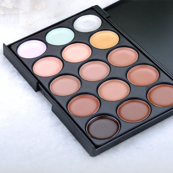Local Stock, 15 Colors Women Makeup Contour Palette Face Cream Concealer Palette Beauty Make Up paletas maquiagem Y50*MPJ034#M5