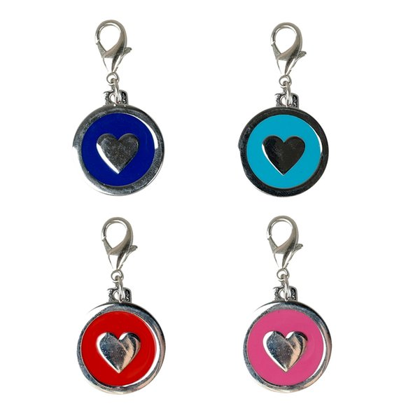 best selling (4 Colors Mixed) Dog Pet Tags Pendants Charm with Hook Heart Shape for Lovey pets