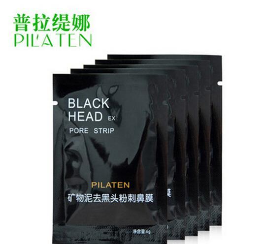 10,000 Pz / lotto PILATEN Face Care Minerali Conk Naso Rimozione di Comedone Maschera Detergente Poro Pulizia Profonda Testa Nera EX Pore Strip