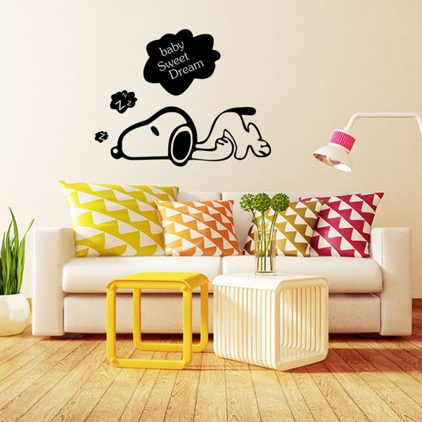 Baby Sweet Dream Cute Dog Art Mural Decor Sticker Home Decoration Wallpaper Poster Kids Room Wall Quote Decal Dropship Buy Cheap Big Stickers For Wall Big
