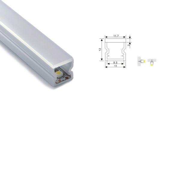 Aluminio u Canal perfil Anodizado Varios Tamaños