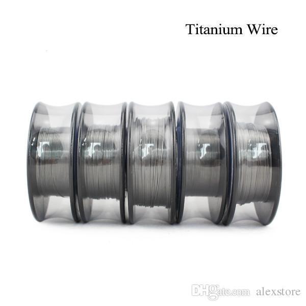 Vapor de tecnologia de titânio resistência de aquecimento do fio 30 AWG pés 26 28 30 Calibre bobina para TEMP Controlo TC Vape Mod PK Ni200 DHL
