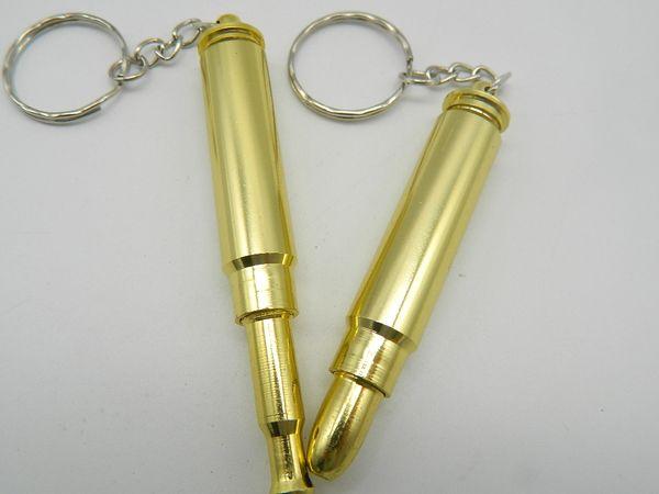 1PC Keychain Mini Aluminum Bullet Shape Smoking Pipe Detachable Filter Pipe New