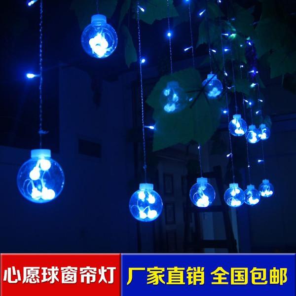 Светодиодные фонари стремление мяч свадебные принадлежности оптом свадебный номер макет витрина магазин занавес подсветка двора