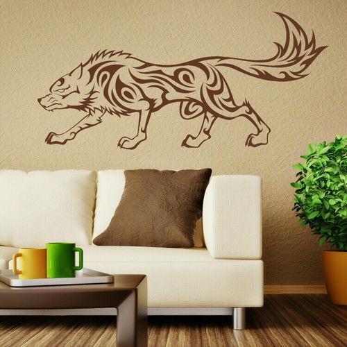 2016 Tribal Wolf Animal Vinyl Decal Art Stylish Ahesive Wall Stickers decor sticker Home Decoration