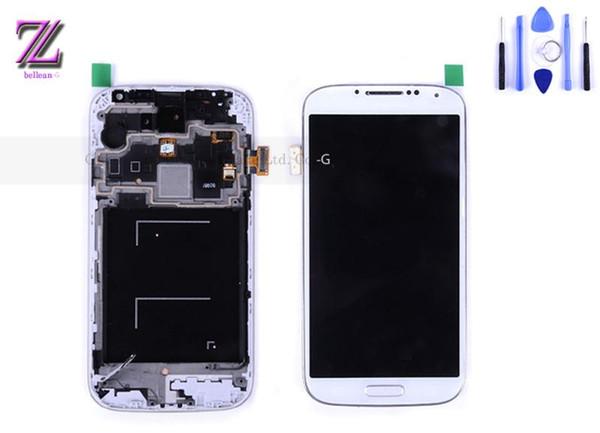 All'ingrosso-per samsung galaxy S4 i9500 display LCD touch screen digitizer con telaio 1 pz con strumenti spedizione gratuita Cina posta