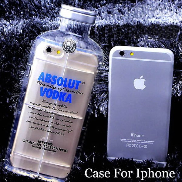 Phone Cases For Iphone 6 5 5S 4 4S 6 plus Cell Phone Protective Shell Luxury absolute Vodka alcohol Wine Bottle Free Shipping