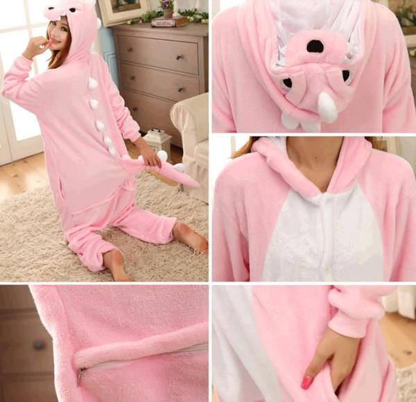 Winter Autumn Cheshire dinosaur Kigurumi Pajamas Animal Suits Cosplay Outfit Adult Garment Cartoon Jumpsuits Unisex Animal Animal Sleepwear
