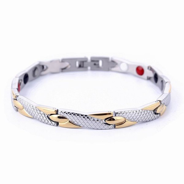 New Arrived 4 Color Healing Magnetic Bracelet Power Therapy Magnets Bracelets Bangles for Women Men Jewelry Wholesale