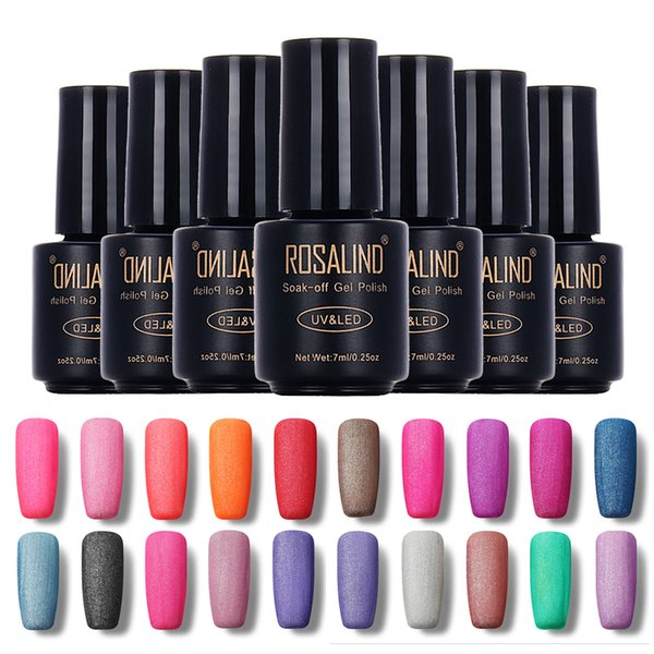 Vente en gros- Bouteille ROSALIND Noir 7ML Matte Couleur Pure M01-24 Gel Vernis à ongles Nail Art Nail Gel Polonais UV LED Soak-Off Gel Surface givrée