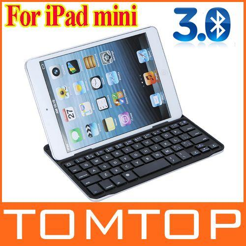 Magnetic Ultra-thin Aluminum Case Cover Wireless Bluetooth 3.0 Keyboard Dock for Apple iPad mini Free Shipping order<$18no track