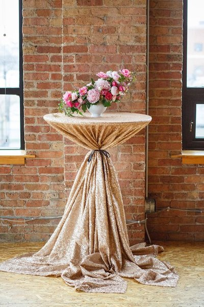 best selling Fashionable Glltty Champagne Sequin Fabric Tablecloth Round tablecloth Polyester clothFor Wedding Event Party Banquet Christmas Decoraitons