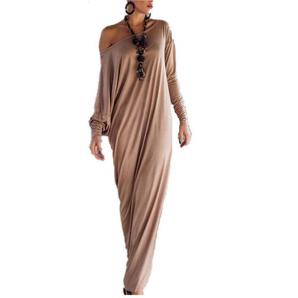 Toptan-yeni sonbahar kış kadın vintage elbiseler artı boyutu bayan uzun maxi elbise düzensiz müslüman hint gevşek gündelik elbise vestido Gl467