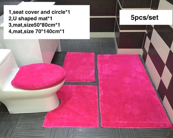 Cool 2019 Hot Pink Luxury Bathroom Rug Set Rugs Mat Set Toilet Seat Covers Sets Seat Toilet Seat Sets From Luxurystuff 115 58 Dhgate Com Gmtry Best Dining Table And Chair Ideas Images Gmtryco